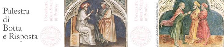 Vista della cappella Scrovegni con uomini che dibattono
