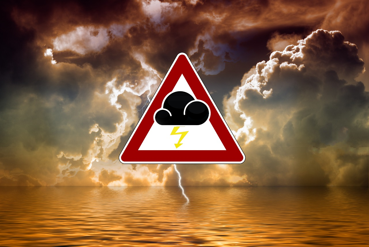 storm and storm road sign