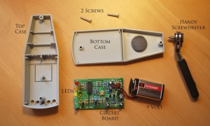 K-II EMF Meter aperto