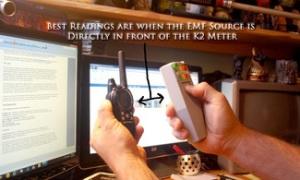 K-II EMF Meter e Cobra MicroTalk PR4500 GMRS / FRS