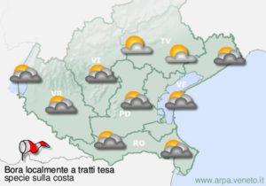 Immagine di esempio con previsione meteo